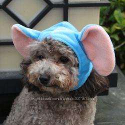 Новогодняя карнавальная шапочка-ушки для собак Зайчик,  Мышка