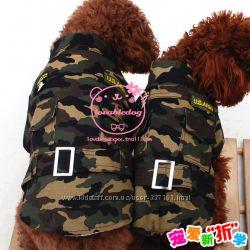 Комуфляжная куртка для собак - тренд сезона