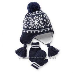 Теплая шапка и перчатки, разные наборы в наличии
