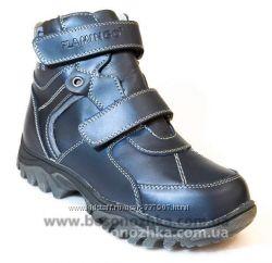 стильные ботинки зимние кожаные в наличии