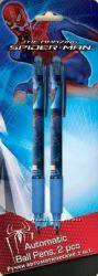 Ручки шариковые автоматические Spider-Man 2 шт