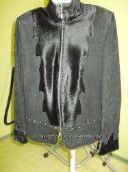 Куртка замшевая с пони  натуральная