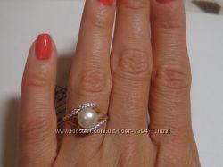 Акция Красивое золотое кольцо с жемчугом