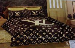 Постельный комплект, атласный Louis Vuitton