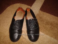 Кожаные туфли для народных танцев для мальчика, размер 37, 37, 5
