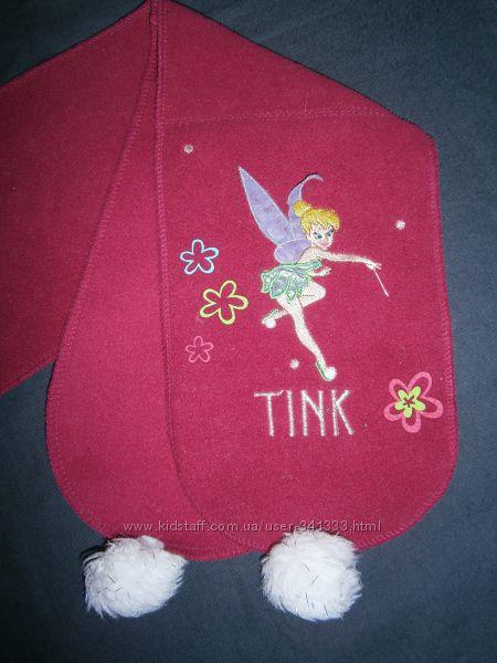 флисовый шарфик с фейкой Динь-Динь Disney