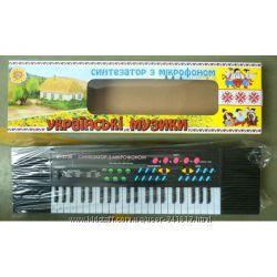 Синтезатор русск. и укр. орган с микрофоном от сети