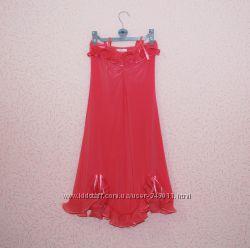 Розовое нарядное платье на девочку 12-15 лет