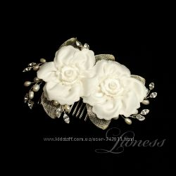 Гребешок для свадебной прически. Элитные украшения для свадебной прически