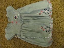 Нарядное джинсовое платье