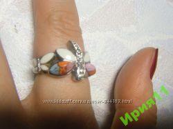 венецианское стекло, новое кольцо, 17разм.