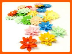 Бумажные цветы ручной работы . скрапбукинг