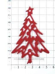 Зимняя вырубка из бумаги для скрапбукинга, детского творчества, декора.