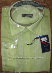 Crane Мужская салатовая рубашка. Размер М. Новая. 172-180см.