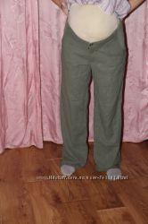 Тонкие льняные брючки для беременной размер 8 и 10