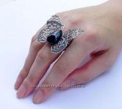 Кольцо Бабочка ручной работы с натуральным камнем SG Design