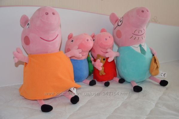 Rozetkaua Мягкая игрушка Peppa Pig Папа Свин 30 см