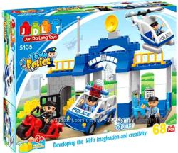 Конструктор для детей 5135 Полиция, JDLT, крупные детали
