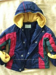 Куртка демисезонная теплая с варежками на 1-1, 5 года