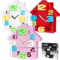 Детские настенные часы - МДФ, пластик, холст