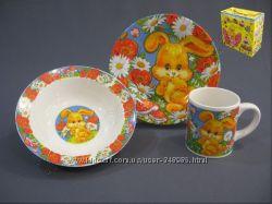 Набор детской посуды Зверята