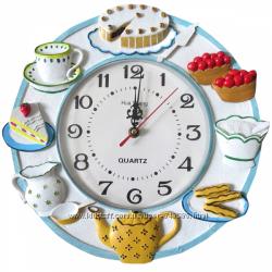Оригинальные кухонные часы  полирезина