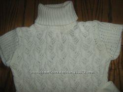 Оригинальное вязаное платье-туника