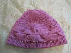 шапка женская новая сирень