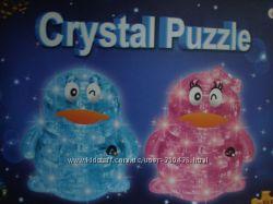 3D пазл кристаллы Пингвин розовый