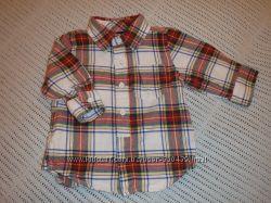 GAP Рубашка с длинным рукавом для стильного мачугана 3-6 мес