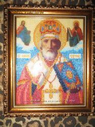 Икона Св. Николая бисер