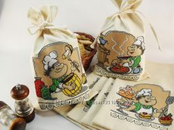 Вышитый мешочек Мешок для сыпучих продуктов Мешки для хранения круп