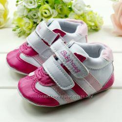 Первые кроссовочки для девочки 6-12мес, 12-18мес