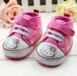 Прикольные ботиночки-кеды HELLO KITTY  для маленьких принцесс