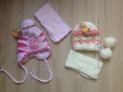 Шапки зима для девочек с рождения до 9лет.