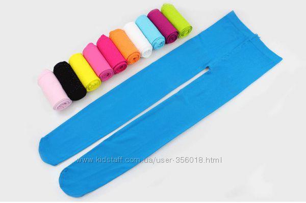 Велюровые капроновые колготки для девочек на рост 100-130 см