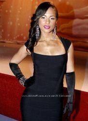 Черное бандажное платье Herve Leger