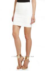 Бандажная юбка белого цвета Herve Leger