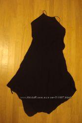 Черное шелковое платье S