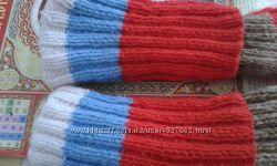Носочки вязаные ручная работа полушерсть очень крепкие и теплые 35-39 р