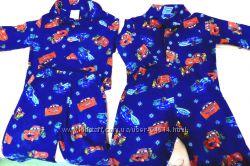 Теплая пижамка Тачки двойне близнецам