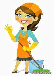 Уборка, помощь по уборке квартир, домработница