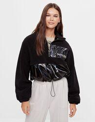 Новая стильная куртка кофта Bershka с голографическим нейлоном - S, M