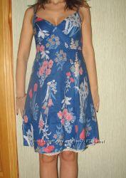 Летнее платье American Eagle АЕ на бретельках. Соттон. размер С.