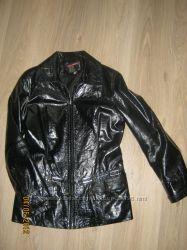 Пиджак лаковый из натуральной кожи  недорого