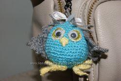 Вязаная совушка-брелок Handmade