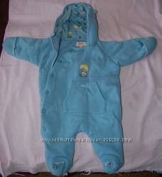 Детский комбинезон человечек утепленный демисезонный 0-6 месяцев