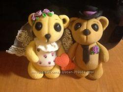 Фигурки из мастики на крещение и свадьбу