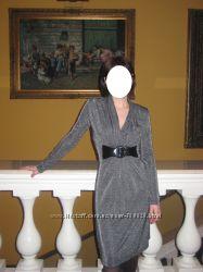 Нарядное платье серебряное серое на стройную девушку