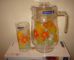 Набор из 7 предметов  Люминарк Luminarc Marguerite стаканы и кувшин